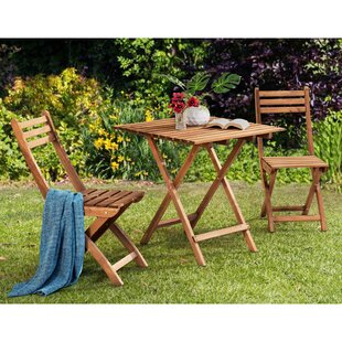 Crabb Wood 3 Piece Bistro Set
