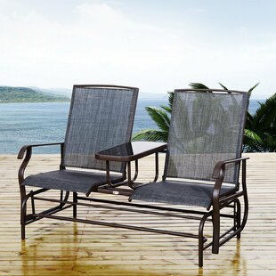 Boutwell 2 Seater Metal Glider Bench Image