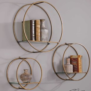 Drum Cage 3 Piece Wall Shelf Set