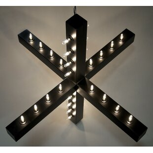 GeometricPendant 48-Light Globe Chandelier by Noir