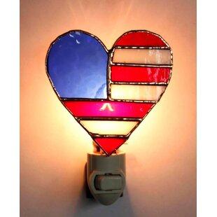 Gift Essentials Patriotic Heart Night Light