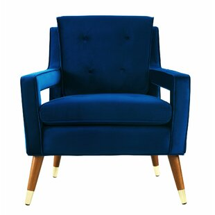 Popular Modern & Contemporary Navy Blue Velvet Chair | AllModern ZA31