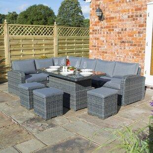 Sales Aldham 9 Seater Rattan Corner Sofa Set