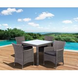 Wakerobin International Home Outdoor 5 Piece Dining Set with Cushions