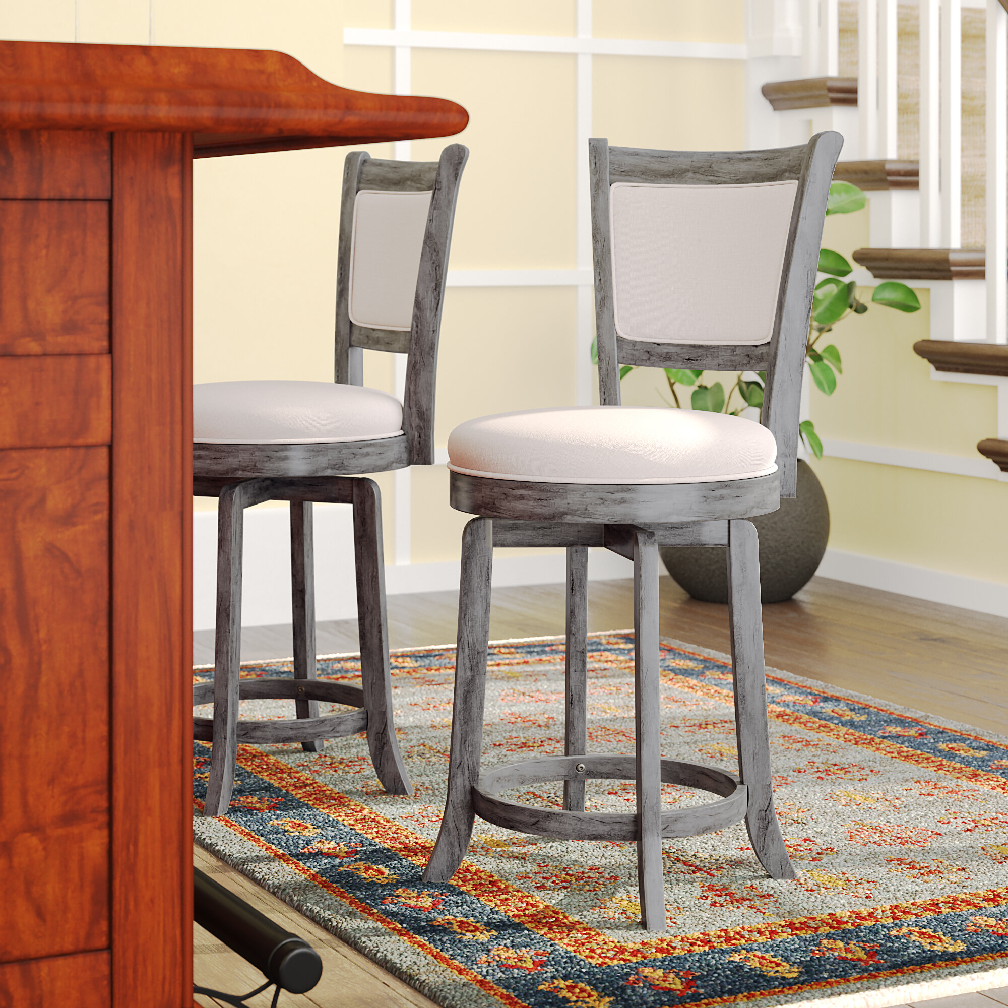 Darby Home Co Topeka 24 Swivel Bar Stool Reviews Wayfair