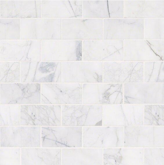 Calacatta Cressa Honed 3 X 6 Marble Subway Tile