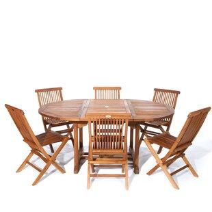 Longshore Tides Humphrey 7 Piece Teak Dining Set