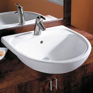 Online Reviews Mezzo Ceramic Circular Drop-In Bathroom Sink with Overflow ByAmerican Standard