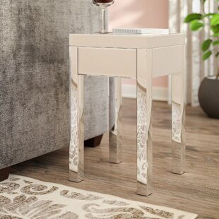 Online Reviews Keels Mirrored End Table With Storage By Willa Arlo Interiors