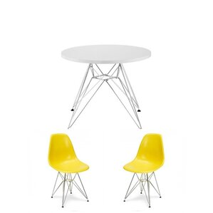 Alycia Kids 3 Piece Round Table And Chair Set