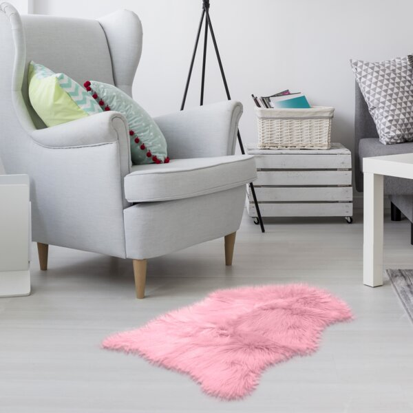 Union Rustic Adam Australian Light Pink Area Rug Wayfair