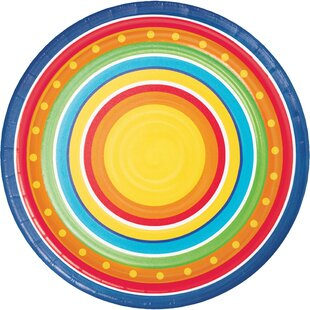 Painted Pottery Paper Disposable Dessert Plate (Set of 24)