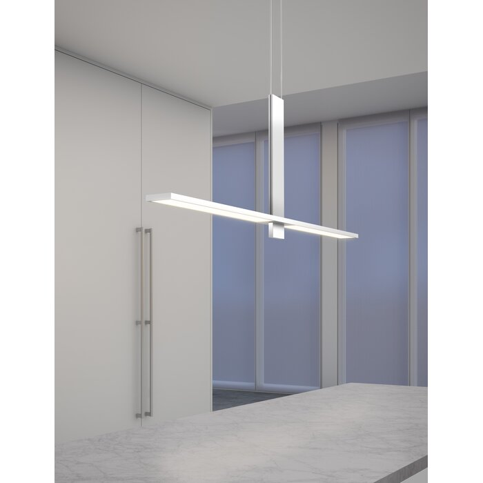 Planes Intersecting 2 Light Led Kitchen Island Pendant