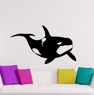 Zoomie Kids Randi Orca Killer Whale Personalized Wall Decal Wayfair