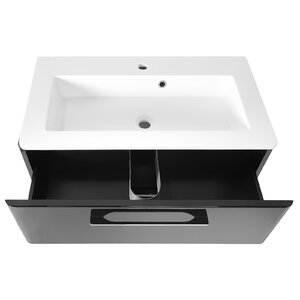 Belfry Bathroom 80cm Wall Mounted Vanity Unit w..