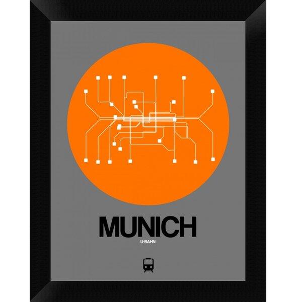 Naxart Munich Orange Subway Map Framed Graphic Art Print On Canvas Wayfair Ca