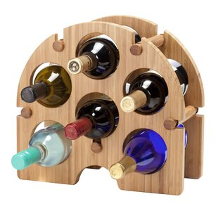 Bamboo Arch 6 Bottle Tabletop Wine Rack b..