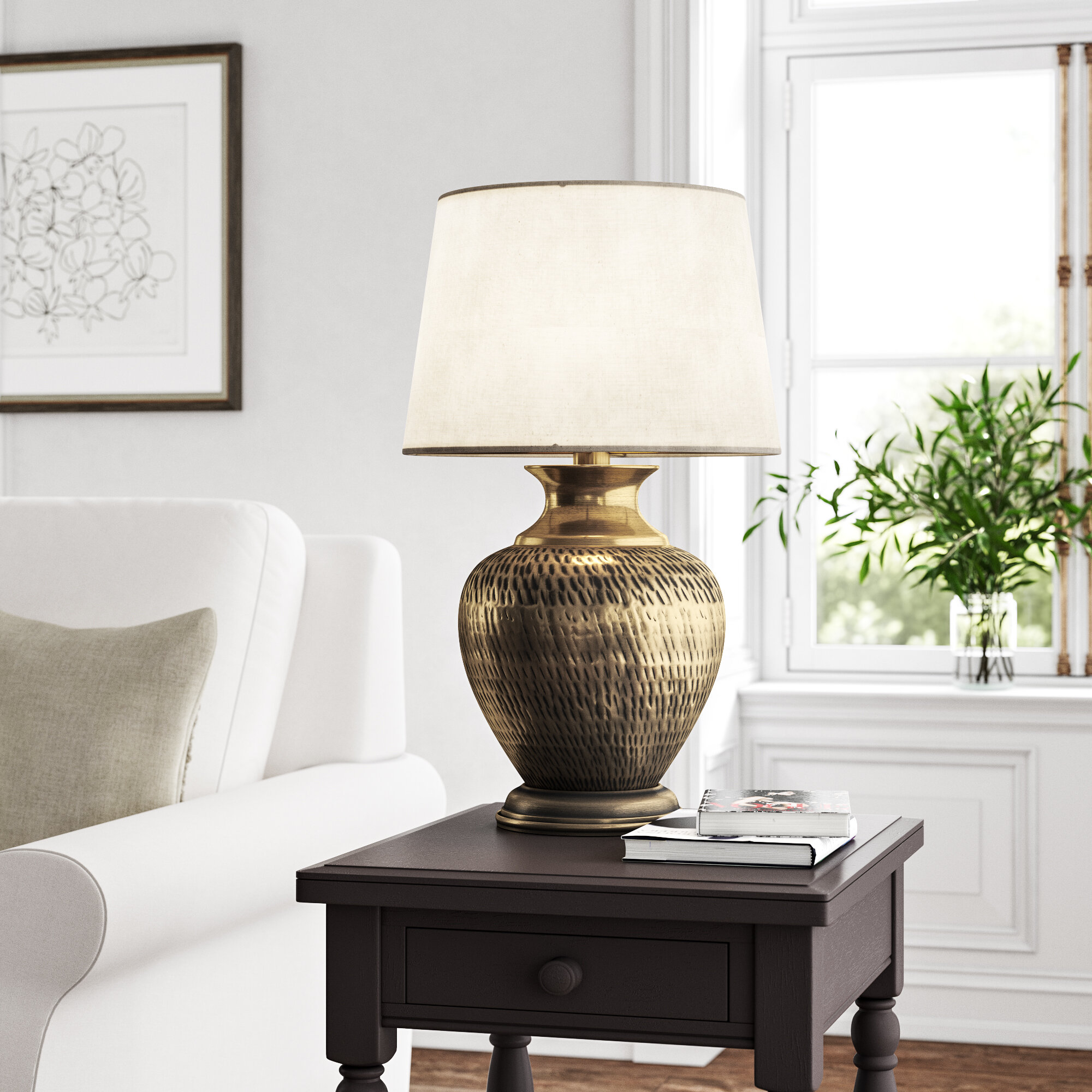 Picture of: Kelly Clarkson Home Amora 28 Antique Brass Table Lamp Reviews