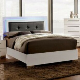 Furry Contemporary Upholstered Platform Bed