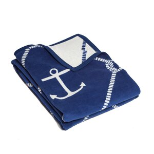 Moreno Anchors and Knots Cotton Throw Blanket