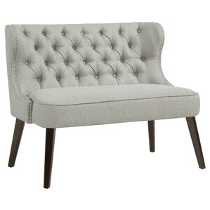 Willa Arlo Interiors Aguayo Tufted Wing Back Settee Bench Image