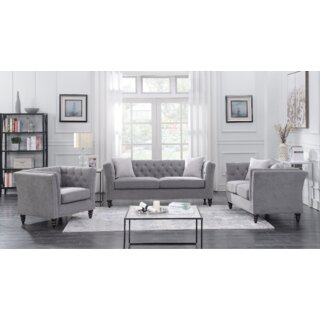 Aiken 3 Piece Living Room Set by Alcott Hill SKU:BA136085 Description