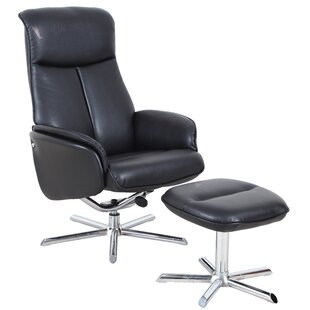 Attraction Design Home Swivel Lounge Chair and Ottoman