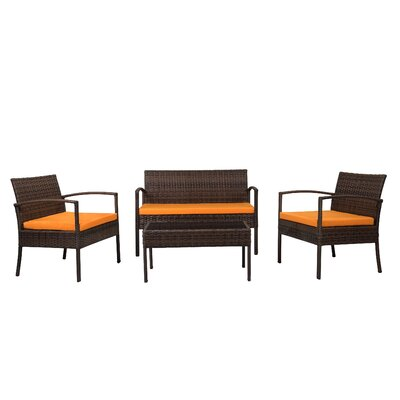 Tremendous Andover Mills Roxana 4 Piece Set With Cushions Cjindustries Chair Design For Home Cjindustriesco