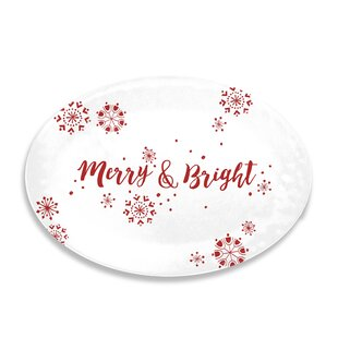 Holiday Cheers Melamine Oval Platter
