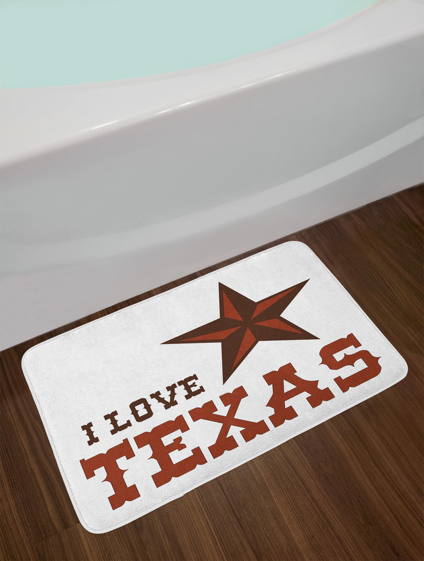 Western Texas Star Bath Rug