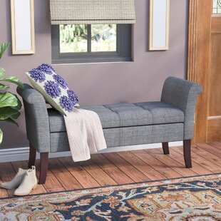 Charlton Home Keziah Upholstered Storage Bench