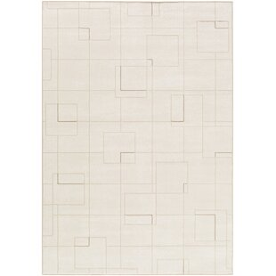 Shop for Larrick Modern White/Cream Area Rug By Mercury Row