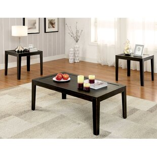 Nena Transitional 3 Piece Coffee Table Set