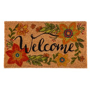 Columbard Floral Welcome Coir Doormat