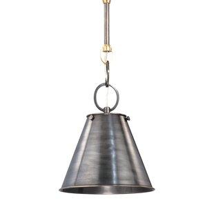 Orren Ellis Molly Metal 1-Light Cone Pend..