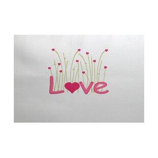 Valentine's Day Fuchsia Indoor/Outdoor Area Rug