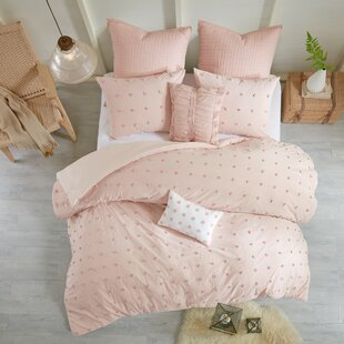 Superbe Dusty Pink Duvet Cover | Wayfair