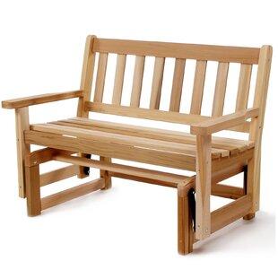 Western Red Cedar Glider Bench by All Things Cedar