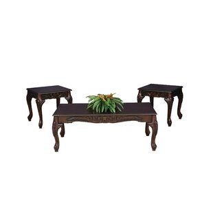 Oswego Wood 3 Piece Coffee Table Set