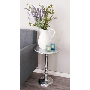Cole & Grey Aluminum End Table