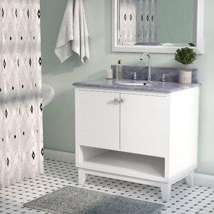 Holtman 34 Single Sink Bathroom Vanity Set With Marble Top