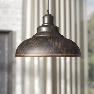 Hammered copper pendant light wayfair estella 1 light inverted pendant audiocablefo