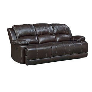 Garlock Leather Reclining Sofa by Red Barrel Studio