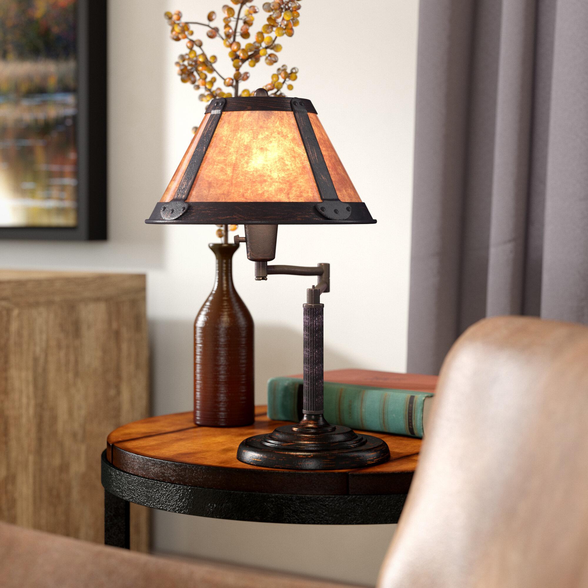 Loon peak hizan swing arm 18 desk lamp reviews wayfair