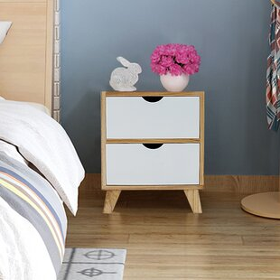 Latitude Run Kaplan 2 Drawer Nightstand