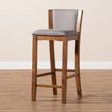 Fynley Upholstered Wood 17.1 Bar Stool (Set of 2) by Gracie Oaks