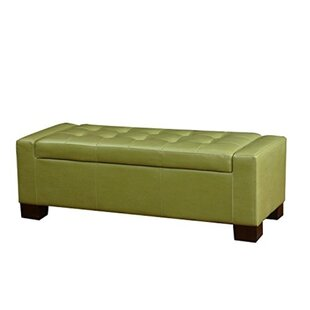 Bart Leather Tufted Storage Ottoman by Red Barrel Studio
