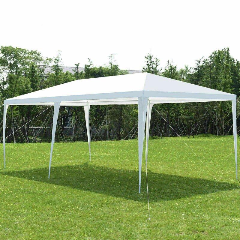 Heaweego Wedding 20 Ft W X 10 Ft D Steel Party Tent Wayfair