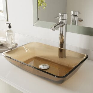 Buying Sheer Tempered Glass Rectangular Vessel Bathroom Sink By VIGO