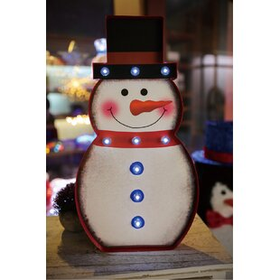 The Holiday Aisle Marquee Snowman Sign Wall Décor
